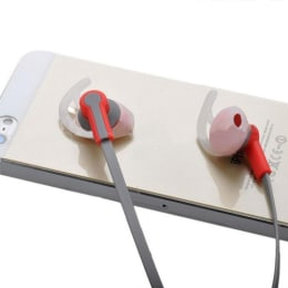 itek Universal In-Ear Wired Earphones with Mic (EB001, Red)_1