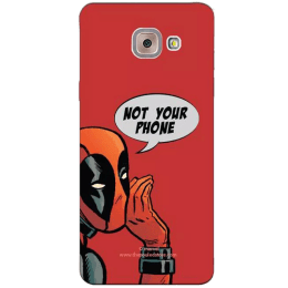 The Souled Store Deadpool- Not Your Phone Polycarbonate Back Case Cover for Samsung Galaxy J7 Max (65000, Red/Black)_1