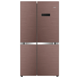 Haier 688 L Frost Free Side by Side Inverter Refrigerator (HRF-748CG, Brown)_1