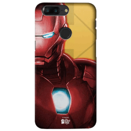 The Souled Store Infinity War - Iron Man Extremis Polycarbonate Mobile Back Case Cover for OnePlus 5T (120023, Red/Mustard)_1