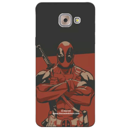 The Souled Store Deadpool - I Am Deadpool Polycarbonate Mobile Back Case Cover for Samsung Galaxy J7 Max (64998, Black/Red)_1