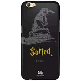 The Souled Store Harry Potter - Sorting Hat Polycarbonate Mobile Back Case Cover for Oppo F3 (45137, Black)_1