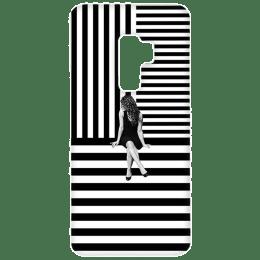 Cangaroo Girl in Center Polycarbonate Hard Back Case Cover for Samsung Galaxy S9 Plus (HD_SamS9P_Kri_007_BWGRL, Black)_1