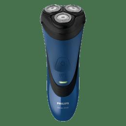 Philips AquaTouch Wet & Dry Shaver (S3350/06, Blue)_1