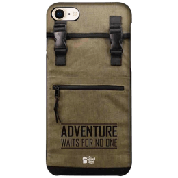 The Souled Store Adventure Backpack Polycarbonate Mobile Back Case Cover for Apple iPhone 8 (73164, Brown)_1