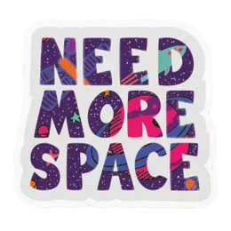 The Souled Store Need More Space Sticker (Multicolor)_1