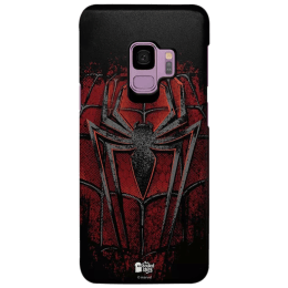 The Souled Store Spider - Man - Crest Polycarbonate Mobile Back Case Cover for Samsung Galaxy S9 (122624, Black/Red)_1