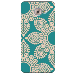 The Souled Store Mandala Pattern Polycarbonate Mobile Back Case Cover for Samsung Galaxy J7 Max (65042, Teal Green)_1