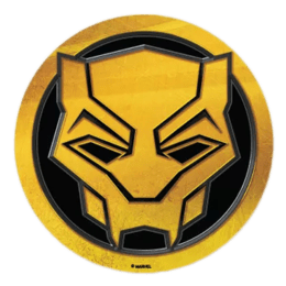 The Souled Store Black Panther Logo Sticker (Gold/Black)_1