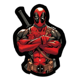 The Souled Store I Am Deadpool Sticker (Red/Black)_1