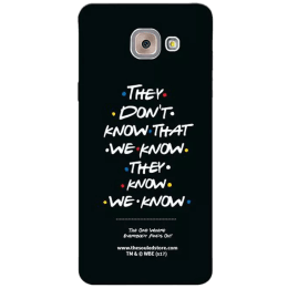 The Souled Store F.R.I.E.N.D.S - They Don't Know Polycarbonate Mobile Back Case Cover for Samsung Galaxy J7 Max (65014, Black)_1