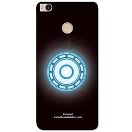 The Souled Store Iron Man - Arc Reactor Polycarbonate Mobile Back Case Cover for Xiaomi Mi Max 2 (69081, Black/Blue)_1