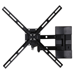 RD Plast 55 inch Double Arm Wall Mount TV Stand (RW 9823-1, Black)_1
