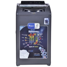 Whirlpool 6.5 kg Fully Automatic Top Loading Washing Machine (SWDC6510YMW, Grey)_1