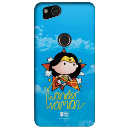 The Souled Store Wonder Woman - Princess Diana Polycarbonate Mobile Back Case Cover for Google Pixel 2 (80061, Blue)_1