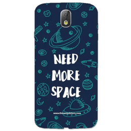 The Souled Store Need More Space Polycarbonate Mobile Back Case Cover for Samsung Galaxy J7 Pro (68920, Navy Blue)_1
