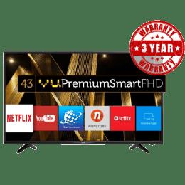 Vu 109 cm (43 inch) Full HD LED Smart TV (43D6575, Black)_1