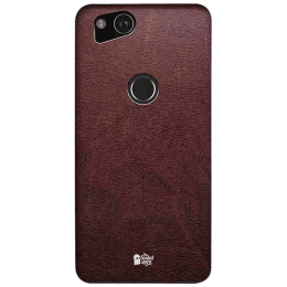 The Souled Store Vintage Leather Mobile Back Case Cover for Google Pixel 2 (80056, Brown)_1