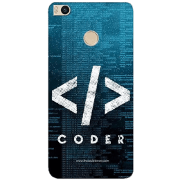 The Souled Store Coder Polycarbonate Back Case Cover for Xiaomi Mi Max 2 (68564, Teal Green)_1