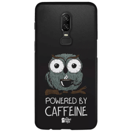 The Souled Store Caffeine Addict Polycarbonate Mobile Back Case Cover for OnePlus 6 (121014, Brown)_1