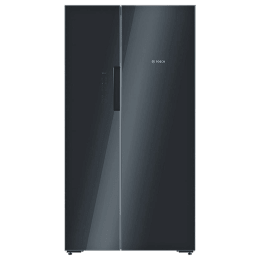 Bosch Serie 8 655 Litres Frost Free Inverter Side-by-Side Door Refrigerator (LED Interior Light, KAN92LB35I, Black)_1