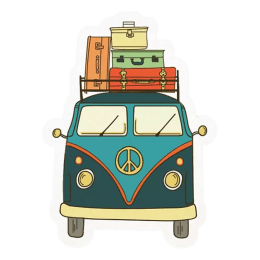The Souled Store Travel Van Sticker (Multicolor)_1