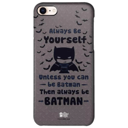 The Souled Store Batman - Be Yourself Polycarbonate Mobile Back Case Cover for Apple iPhone 8 (73179, Black)_1
