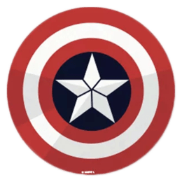 The Souled Store Captain America Logo Sticker (Red)_1