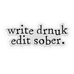 The Souled Store Write Drunk Sticker (Black)_1