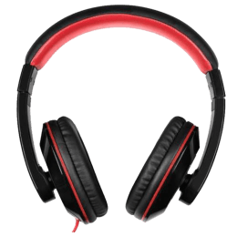 itek Dynabass On-Ear Wired Headphones with Mic (SH001, Red)_1