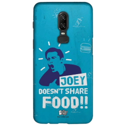 The Souled Store F.R.I.E.N.D.S - Joey Polycarbonate Back Case Cover for OnePlus 6 (121037, Black)_1