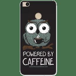 The Souled Store Caffeine Addict Polycarbonate Mobile Back Case Cover for Xiaomi Mi Max 2 (68558, Black)_1