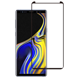 Stuffcool Mighty 3D Curved Full Screen Tempered Glass Screen Protector for Samsung Galaxy Note 9 (MGGP3DSGN9, Black)_1