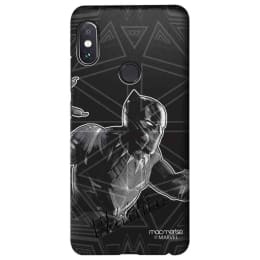 Macmerise Black Panther Stare Polycarbonate Back Case Cover for Xiaomi Redmi Note 5 Pro (XACR5PSMM0244, Black)_1