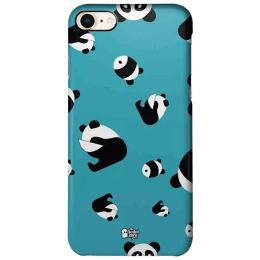 The Souled Store Panda Pattern Polycarbonate Mobile Back Case Cover for Apple iPhone 8 (73369, Teal)_1