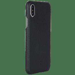 Robobull Premium Smart PU Leather Back Case Cover for Apple iPhone X/XS (Premium Leather 01, Black)_1