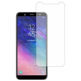 Stuffcool Mighty Tempered Glass Screen Protector for Samsung Galaxy A6 Plus (MGGP25DSGA6P, Clear)_1