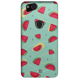 The Souled Store Watermelons Polycarbonate Mobile Back Case Cover for Google Pixel 2 (80058, Teal/Red)_1