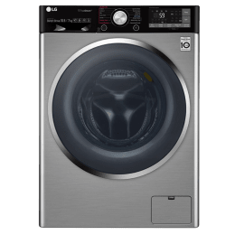 LG 10.5/7 kg Fully Automatic Front Loading Washer dryer (F4J9JHP2TD, Stainless Steel)_1