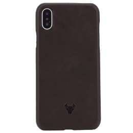 Robobull Premium Smart PU Leather 06 Back Case Cover for Apple iPhone X/XS (Chocolate Brown)_1