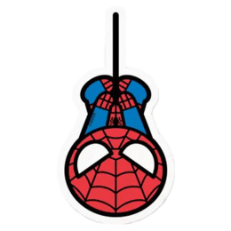 The Souled Store Spider-Man Chibi Sticker (Red/Blue)_1