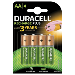 Duracell 1300 mAh AA Rechargeable Batteries (DU Rec AA1300 4BL, Green) (Pack of 4)_1
