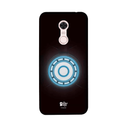 The Souled Store Iron Man - Arc Reactor Polycarbonate Mobile Back Case Cover for Xiaomi Redmi Note 5 (84943, Dark Brown/Blue)_1