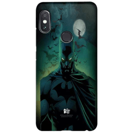 The Souled Store Batman - Caped Crusader Polycarbonate Back Case Cover for Xiaomi Redmi Note 5 Pro (118484, Blue/Black)_1
