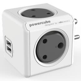 Allocacoc Powercube 16 Amp USB Adapter (6600GY/INOUPC, Grey)_1