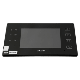 Zicom 7 Inch Color Screen with Automatic Audio Video Recorder Door Phone (Z.VD.CO.07HF.SuSDC, Black)_1