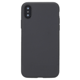 Robobull Carbon TPU Soft Back Case Cover for Apple iPhone X/XS (3700000415, Grey)_1