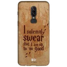 The Souled Store Harry Potter - Mischief Managed Polycarbonate Mobile Back Case Cover for OnePlus 6 (121059, Beige)_1
