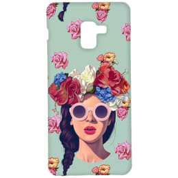 RedFinch Lady Print Hard Back Case Cover for Samsung Galaxy A8 Plus (HD_SM A8+_LD_003, Multicolor)_1