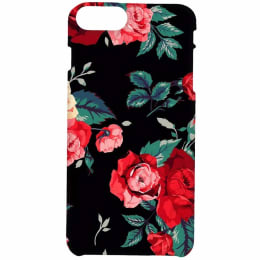 RedFinch Black Flower Print Hard Back Case Cover for Apple iPhone 7 Plus/8 Plus (HD_IP7+/8+_FLB_006, Multicolor)_1